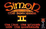 Simon the Sorcerer II: The Lion, the Wizard and the Wardrobe DOS Opening Title with Simon doing some magical acrobatics...