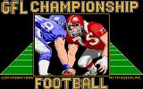 GFL Championship Football Amiga Title screen