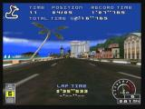 Ridge Racer Zeebo The first person view.