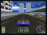 Ridge Racer Zeebo Jumping with the unlocked Mappy Blue in the reverse intermediate course. Some unlocked cars are worse than the default ones, this one is an example.