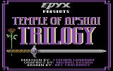 Temple of Apshai Trilogy Commodore 64 Title screen.