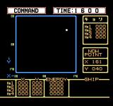 Pulsar no Hikari: Space Wars Simulation NES This screen gives the player a report of the enemies movement