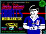 Jocky Wilson's Darts Challenge ZX Spectrum Loading screen.