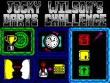 Jocky Wilson's Darts Challenge ZX Spectrum Option screen.