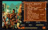 Realms of Arkania: Star Trail DOS Character generation menu