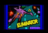 Eliminator Amstrad CPC Loading screen.