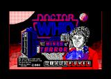 Doctor Who and the Mines of Terror Amstrad CPC Title Screen