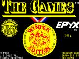 The Games: Winter Edition ZX Spectrum Loading screen.