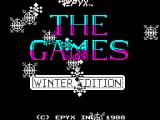 The Games: Winter Edition ZX Spectrum Title screen.