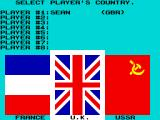 The Games: Winter Edition ZX Spectrum Enter your name and pick your country.