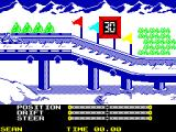 The Games: Winter Edition ZX Spectrum Start of the Luge.