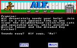 ALF: The First Adventure Atari ST Game instructions