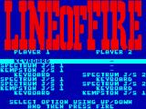 Line of Fire ZX Spectrum Set up the players