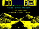 Time Machine ZX Spectrum Title screen.