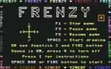 Frenzy Commodore 64 Title Screen with Main Controls
