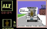 ALF: The First Adventure Commodore 64 Caught by the dog catcher...