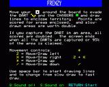 Frenzy BBC Micro Instructions