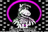 ALF: The First Adventure Apple II Title screen