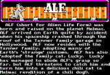 ALF: The First Adventure Apple II The game introduction