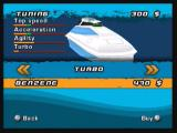 Powerboat Challenge Zeebo The tuning shop. The money collected by winning events can be expended here. Here you can see the changes in performance and appearance that take place in your boat if you buy items.