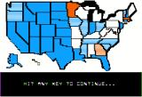 President Elect Apple II The map shows a breakdown of what states are likely to vote for which party.