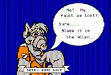 ALF: The First Adventure Apple II Game over