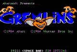 Gremlins Apple II Title screen
