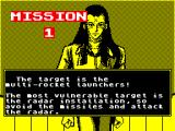 U.N. Squadron ZX Spectrum The mission ahead.