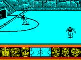 Skateball ZX Spectrum Shot at goal.