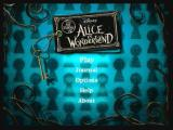 Alice in Wonderland: An Adventure Beyond the Mirror Zeebo Main menu.