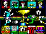 World Soccer ZX Spectrum Main menu.