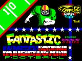 Fantastic American Football ZX Spectrum Loading screen.