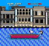 Snoopy's Silly Sports Spectacular NES The object is to knock your opponent into the water