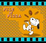 Snoopy's Silly Sports Spectacular NES The Pile of Pizza event