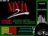Last Ninja 2: Back with a Vengeance ZX Spectrum Title screen.