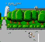Snoopy's Silly Sports Spectacular NES Move too fast (or at normal speed) and you won't have very many pizzas at all