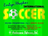 Emlyn Hughes International Soccer ZX Spectrum Loading screen.