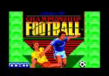 Adidas Championship Football Amstrad CPC Loading screen.