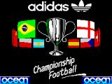 Adidas Championship Football ZX Spectrum Loading screen.