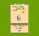 Snoopy's Silly Sports Spectacular NES Quick Stats for events are given in selection mode