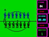Rick Davis's World Trophy Soccer ZX Spectrum Teams line up.