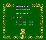 Super Soccer TurboGrafx-16 Mode select.