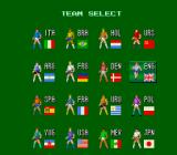 Super Soccer TurboGrafx-16 Pick your team.