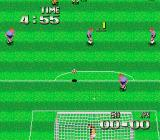 Super Soccer TurboGrafx-16 Shot on goal.