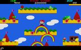 Rainbow Islands Atari ST Shooting rainbows.