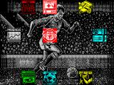Manchester United ZX Spectrum Main Menu.