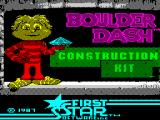 Boulder Dash Construction Kit ZX Spectrum Loading screen.