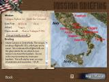 Tuskegee Fighters Windows Starting a mission brings up a map and a briefing screen