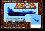 "MiG-29: Fighter Pilot Genesis Title screen (actually here it's called ""Fulcrum"" instead of ""Fighter Pilot"")"