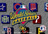 World Series Baseball '96 Genesis Title screen